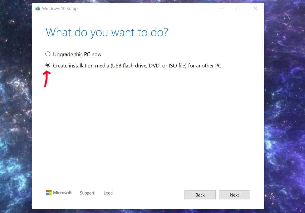 aresgalaxy media creation tool windows 10 2