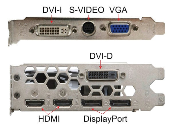 Video Output Graphics Connectors